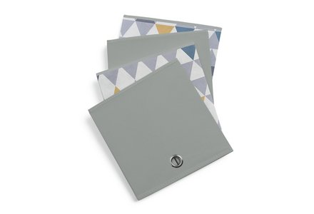 Hygena Set of 4 Large Mosaic Boxes - Soft Grey.