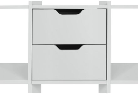 Hygena Squares Plus Set of 2 Drawers - White.