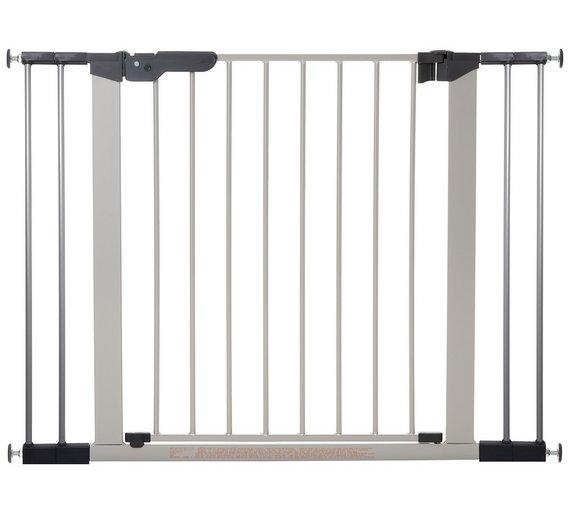 buy babydan premier wide safety gate silver at. Black Bedroom Furniture Sets. Home Design Ideas