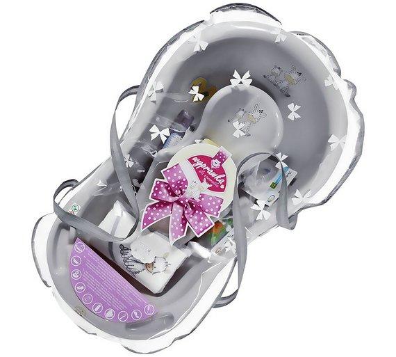 buy maltex zebra grey baby bath tub gift set 84cm at your onl. Black Bedroom Furniture Sets. Home Design Ideas
