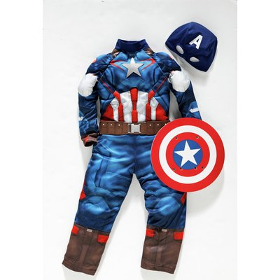CAPTAIN AMERICA DRESS UP 3-4 YRS.