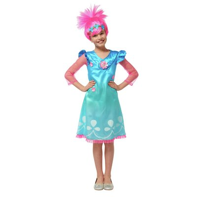 TROLLS POPPY DRESS UP WITH WIG 3-4 YRS.
