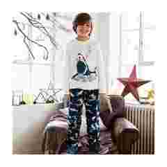image of FatFace boy's  shark pj set