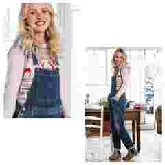 image of FatFace women's true vintage worker dungarees