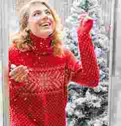 image of FatFace women's snowflake roll neck