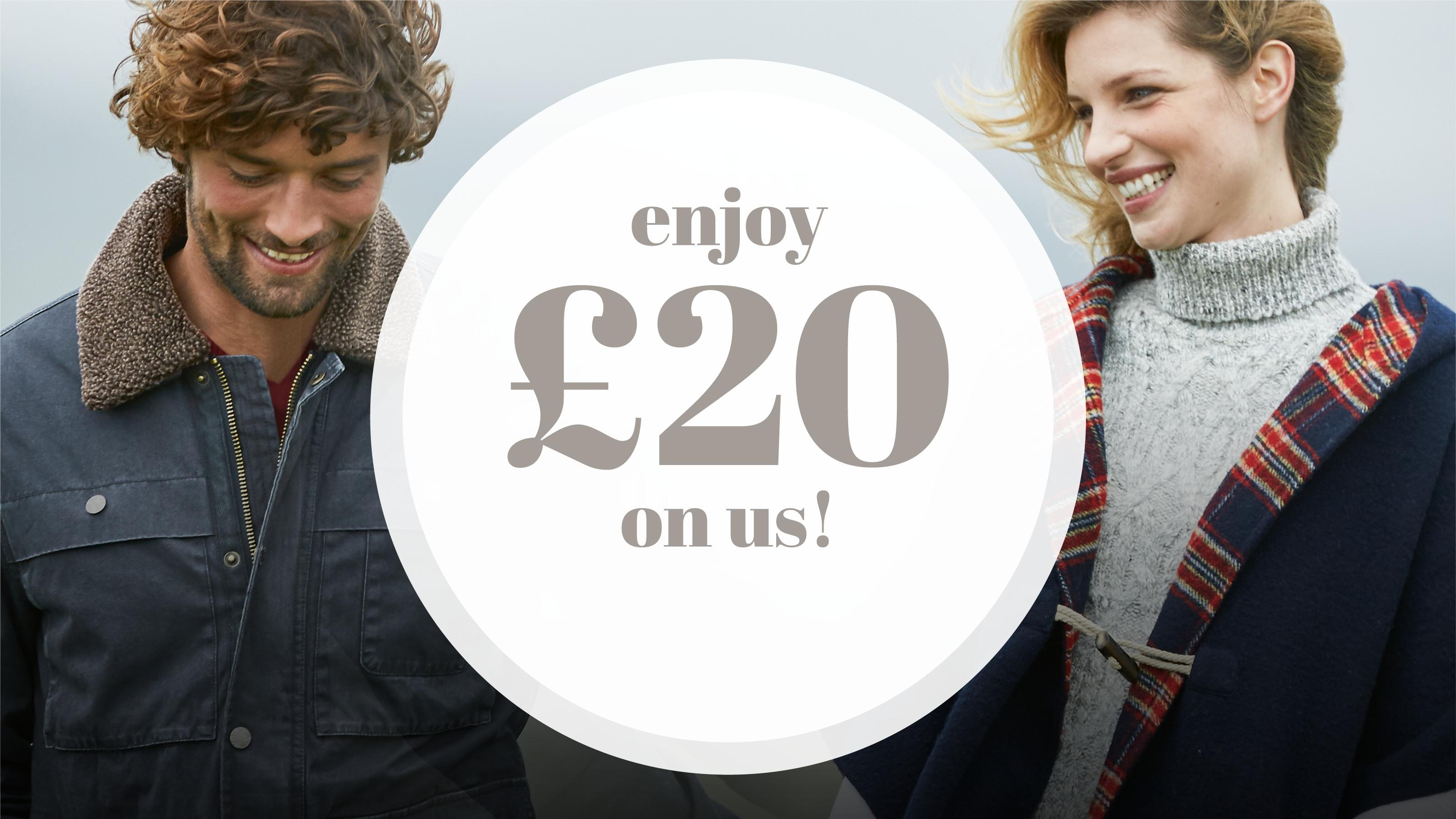 Our gift to you - FREE £20 Voucher for every £70 you spend
