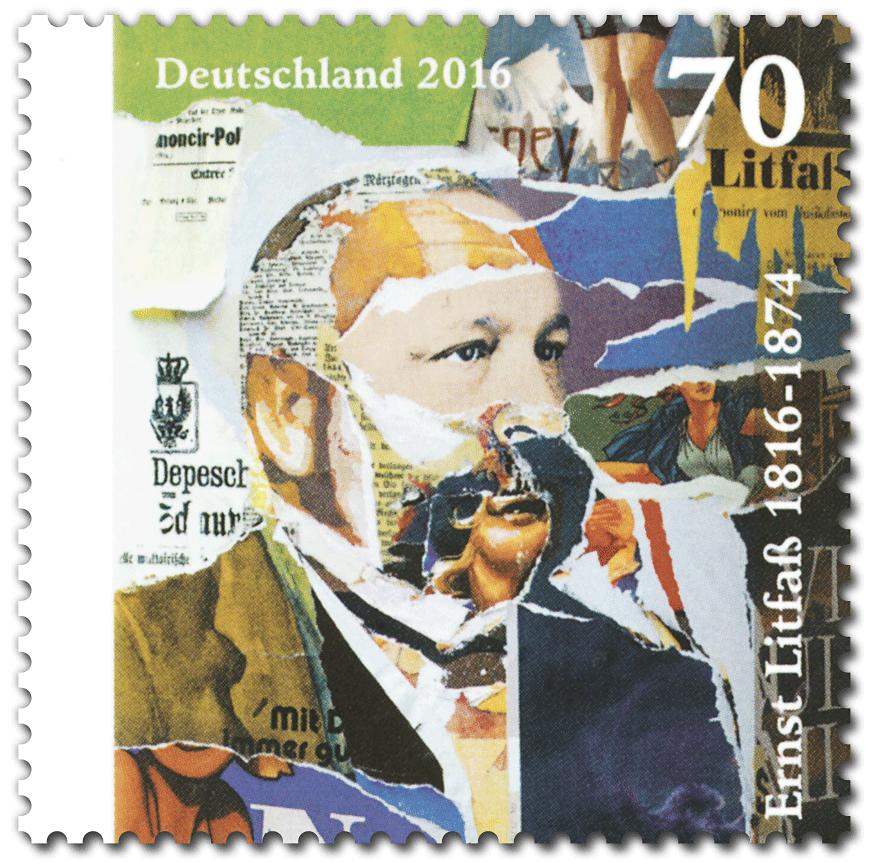 Briefmarke Litfaß