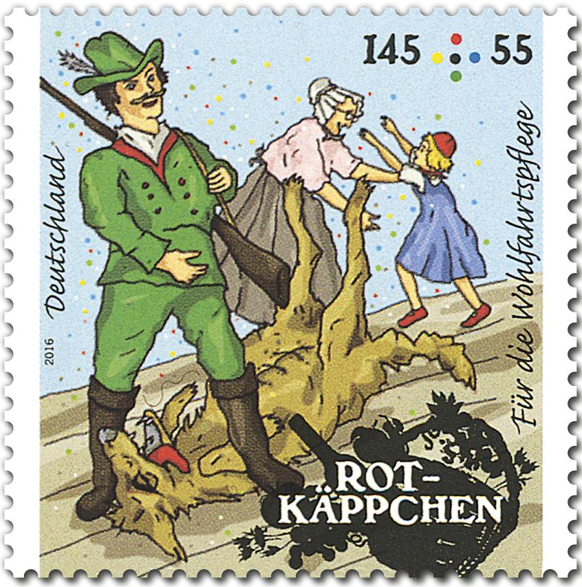 Briefmarke Rotkäppchen Jäger