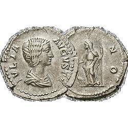 Denar aus dem 3. Jahrhundert n. Chr. mit Porträt von der Göttin Juno