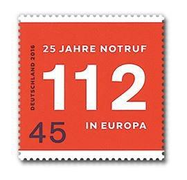 Briefmarke Notruf