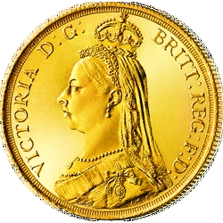 "1 Sovereign Victoria, ""Jubiläums-Büste"""