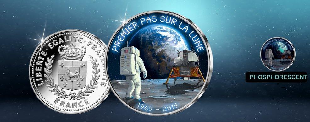 MDM - Frappe en argent « Premier Pas sur la Lune 1969-2019»