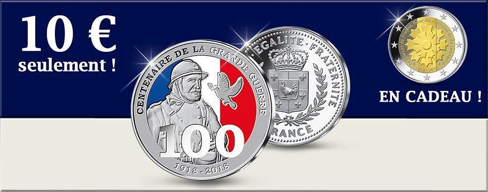 Frappe Argent 1918 2018 Centenaire De La Grande Guerre La 2
