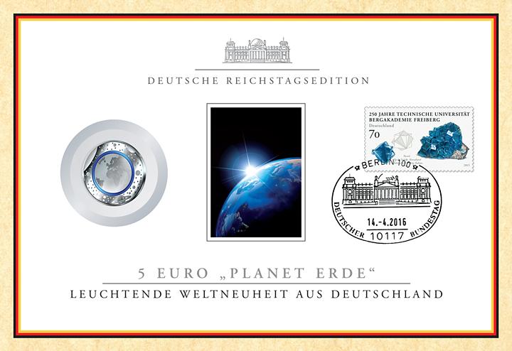 Polymer Münze Blauer Planet Im Numisbrief Borekde