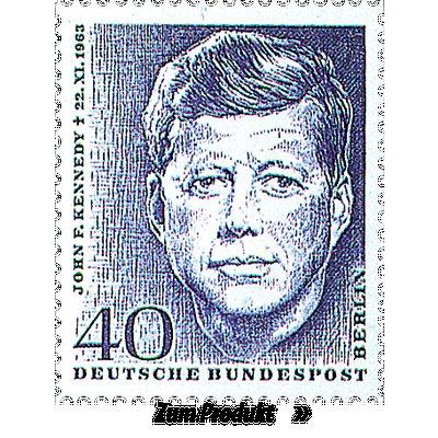 Briefmarke mit dem Gesicht Kennedys