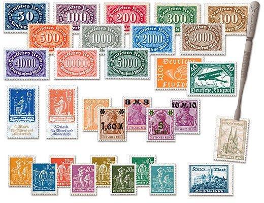 Die Briefmarken Ihrer zweiten Lieferung