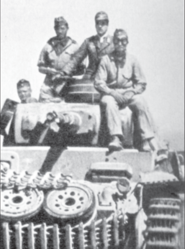 Deutscher Panzer in Nordafrika.