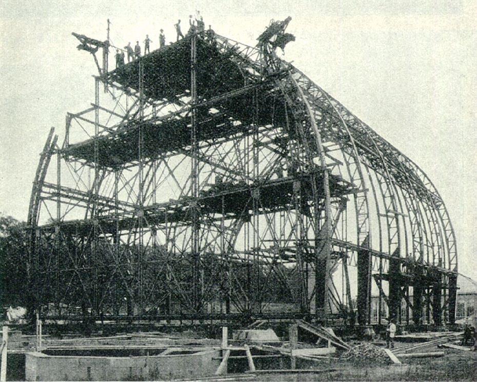 Bau des Tropenhauses