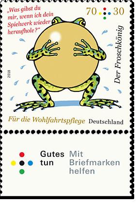 """Briefmarkenserie """"Tierkinder"""" RehkitzBriefmarkenserie """"Für die Wohlfahrtspflege"""" Froschkönig"""