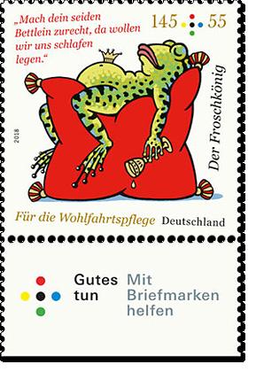 """Briefmarkenserie """"Für die Wohlfahrtspflege"""" Froschkönig"""