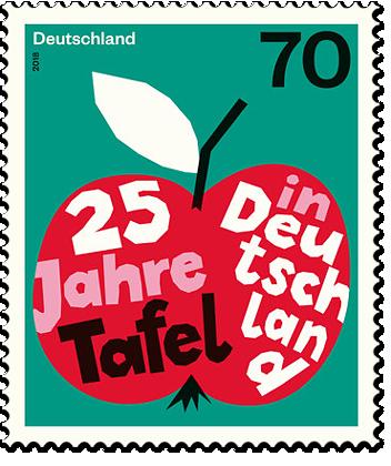 Briefmarke 25 Jahre Tafeln in Deutschland