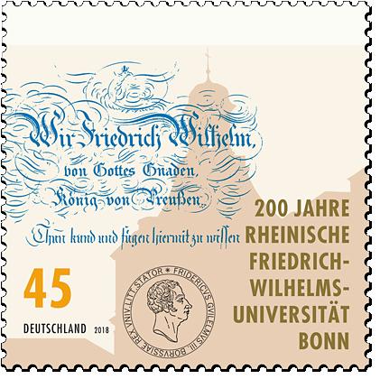 Briefmarke 200 Jahre Universität Bonn
