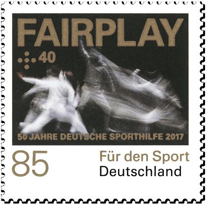 """Dauerserie """"50 Jahre Deutsche Sporthilfe"""" Fairplay"""