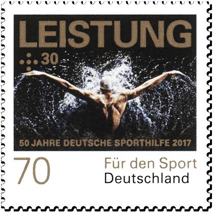 """Dauerserie """"50 Jahre Deutsche Sporthilfe"""" Leistung"""