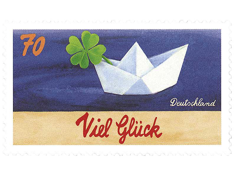Briefmarkenserie Schreibanlässe: Viel Glück