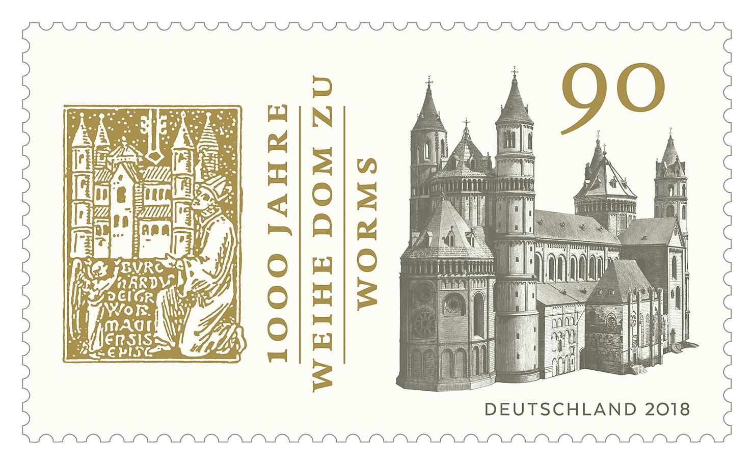 Briefmarke 1000 Jahre Weihe Dom zu Worms