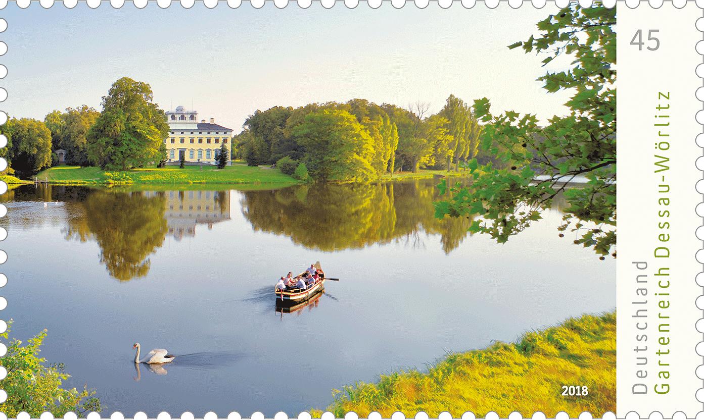 Briefmarkenserie Deutschlands schönste Panoramen: Gartenreich Dessau-Wörlitz