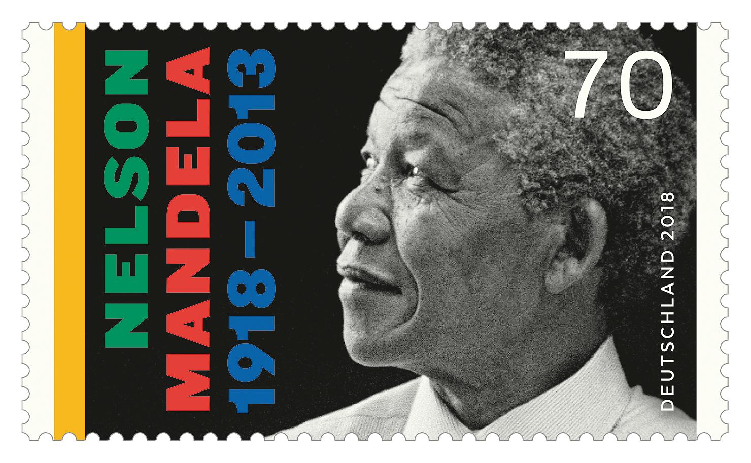 Briefmarke 100. Geburtstag Nelson Mandela