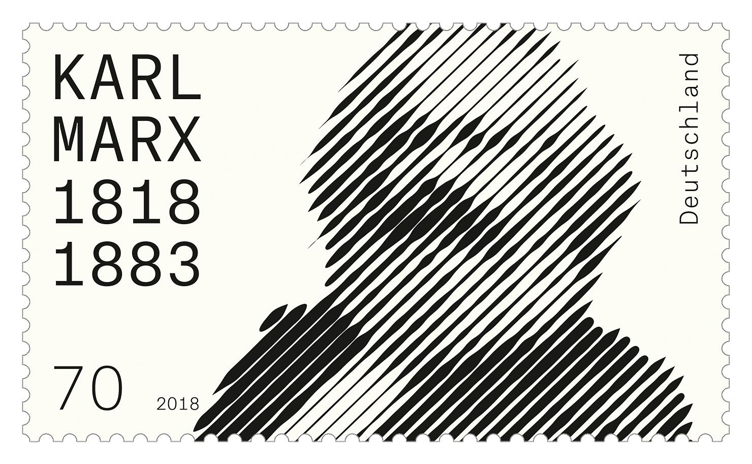 Briefmarke 200. Geburtstag Karl Marx
