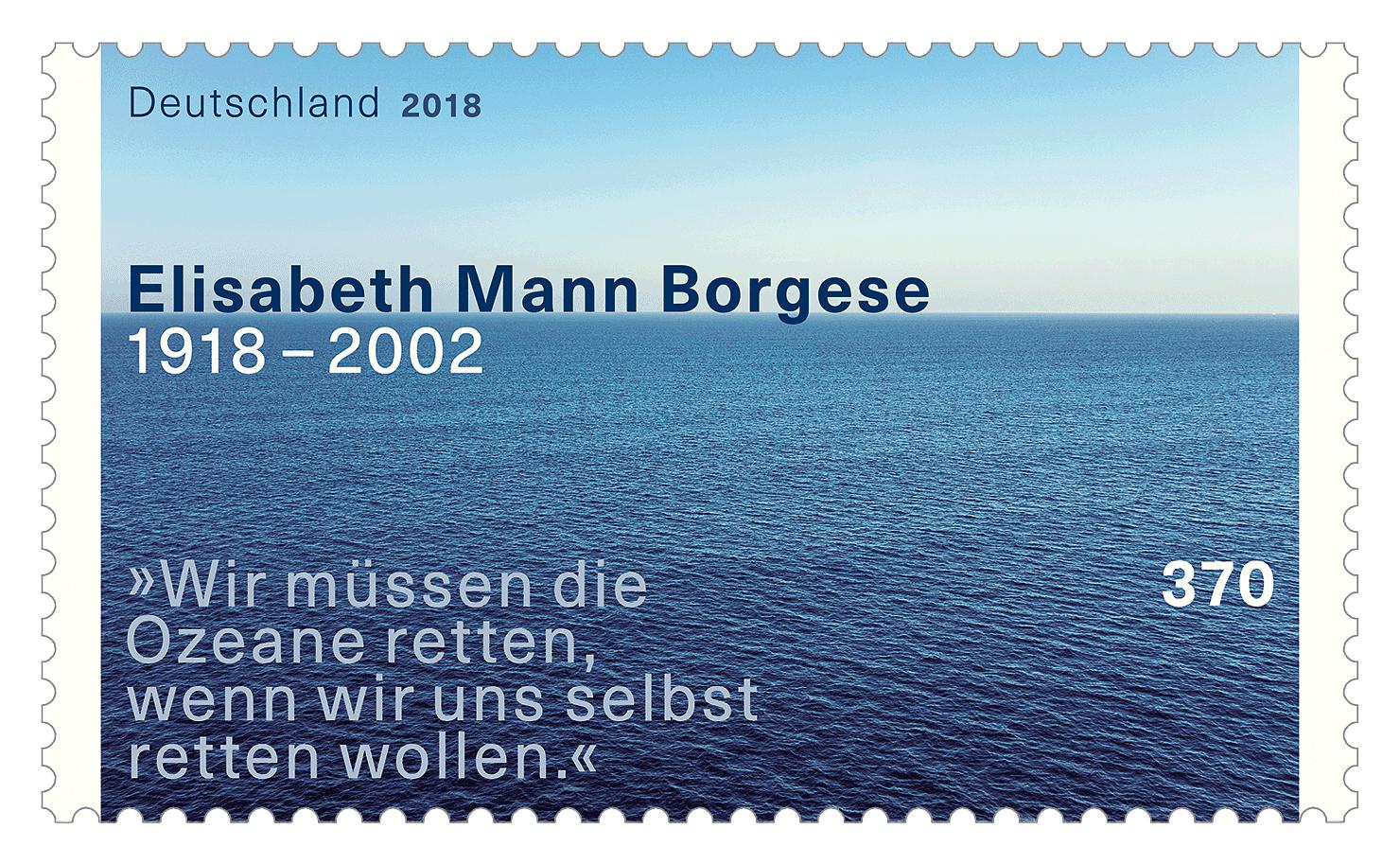 Briefmarke Elisabeth Mann Borgese