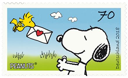 Briefmarkenserie Peanuts