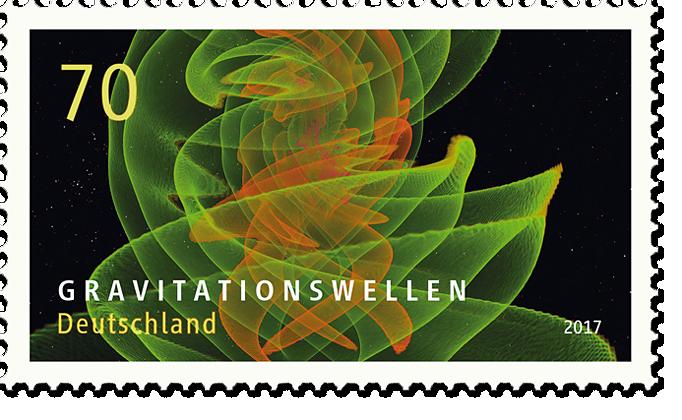 """Briefmarkenserie """"Astrophysik"""" Gravitationswellen"""