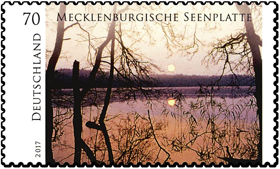 """Briefmarkenserie """"Wildes Deutschland"""" Mecklenburgische Seenplatte"""