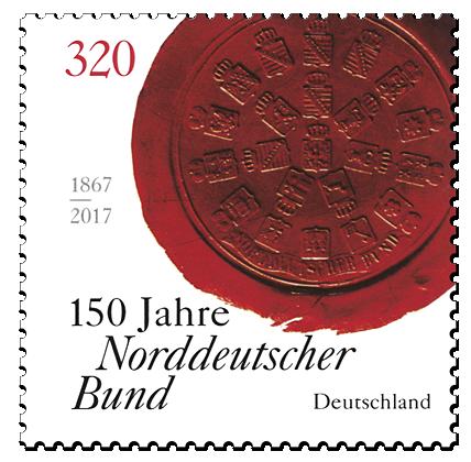 Briefmarke 150 Jahre Norddeutscher Bund
