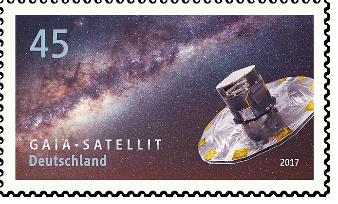 """Briefmarkenserie """"Astrophysik"""" Gaia-Satellit"""