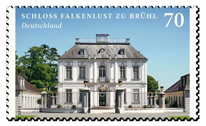 """Briefmarkenserie Bugen und Schlösser"""" Falkenlust zu Brühl"""