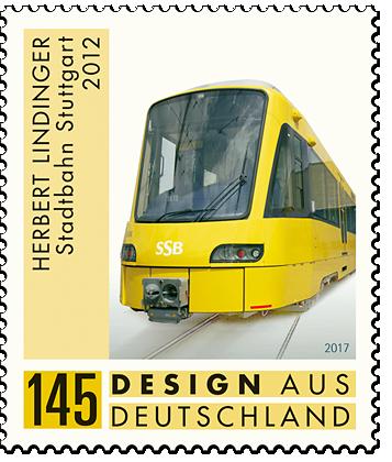 "Briefmarkenserie ""Design aus Deutschland"" Herbert Lindinger: Stadtbahn Stuttgart"