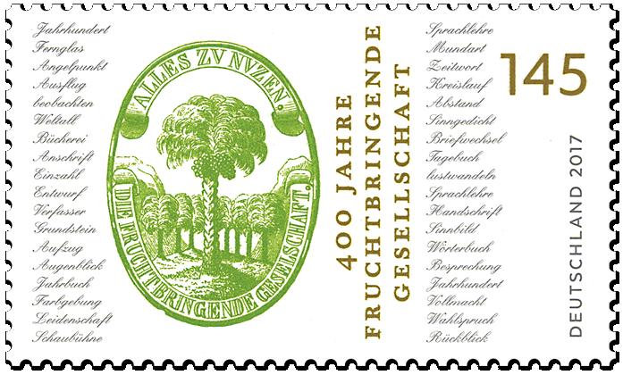Briefmarke 400 Jahre Fruchtbringende Gesellschaft