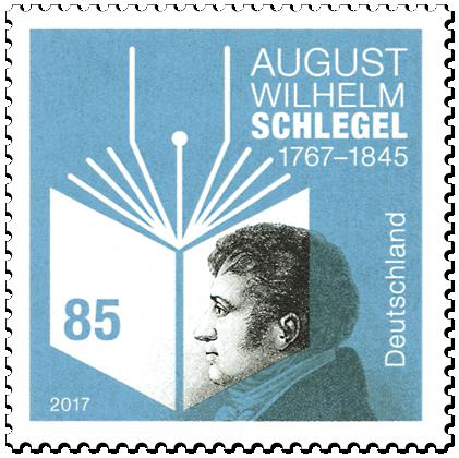 Briefmarke 250. Geburtstag August Wilhelm Schlegel