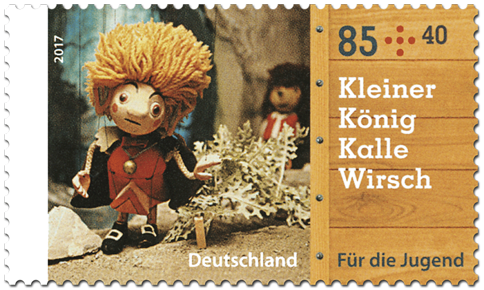 """Briefmarkenserie Für die Jugend: """"Augsburger Puppenkiste"""""""