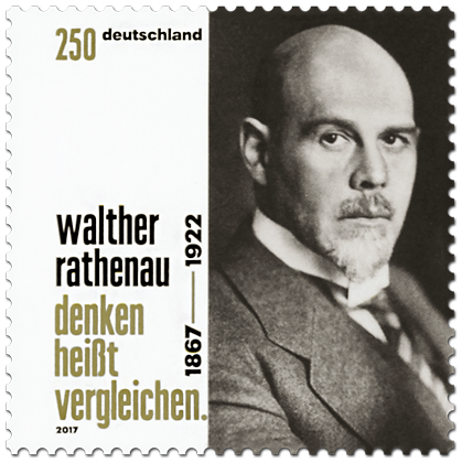 Briefmarke 150. Geburtstag Walther Rathenau