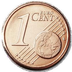 1 Euro Cent Vorderseite