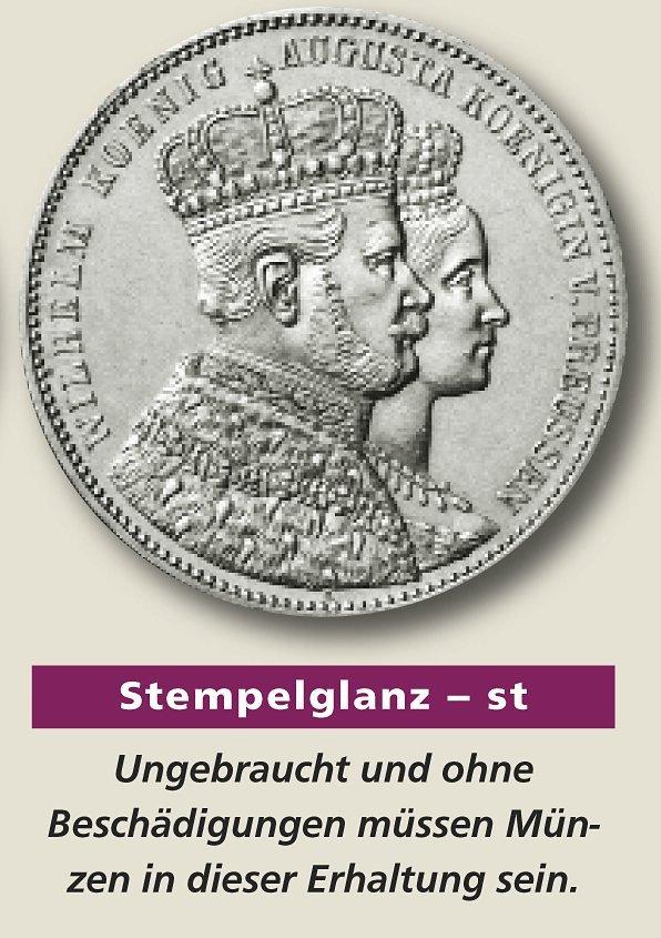 Die Prägequalität Stempelglanz St Mdm Deutsche Münze
