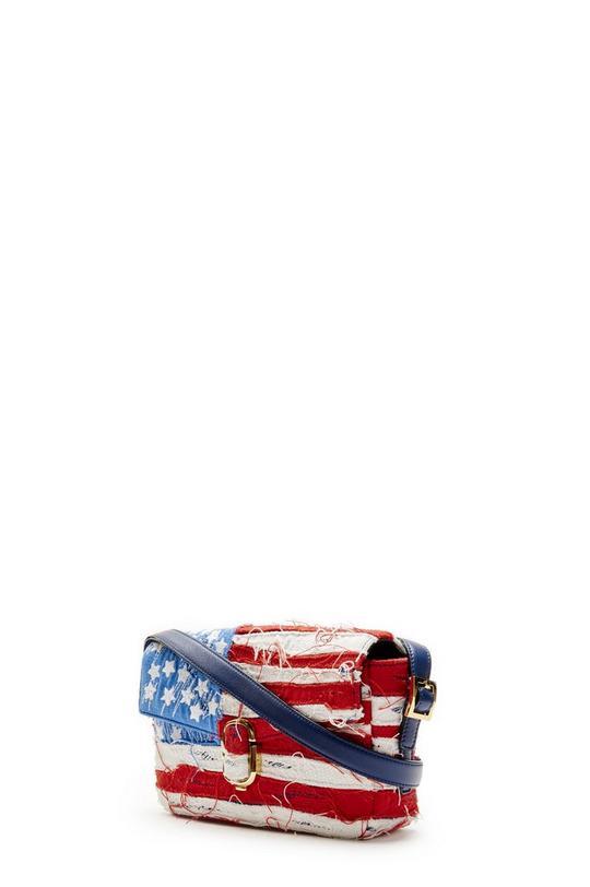American Flag Sequin Python Shoulder Bag