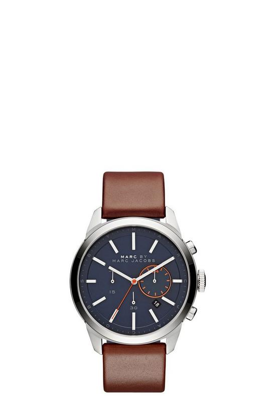 Leather Dillon Chrono Modern Men's Strap 44MM