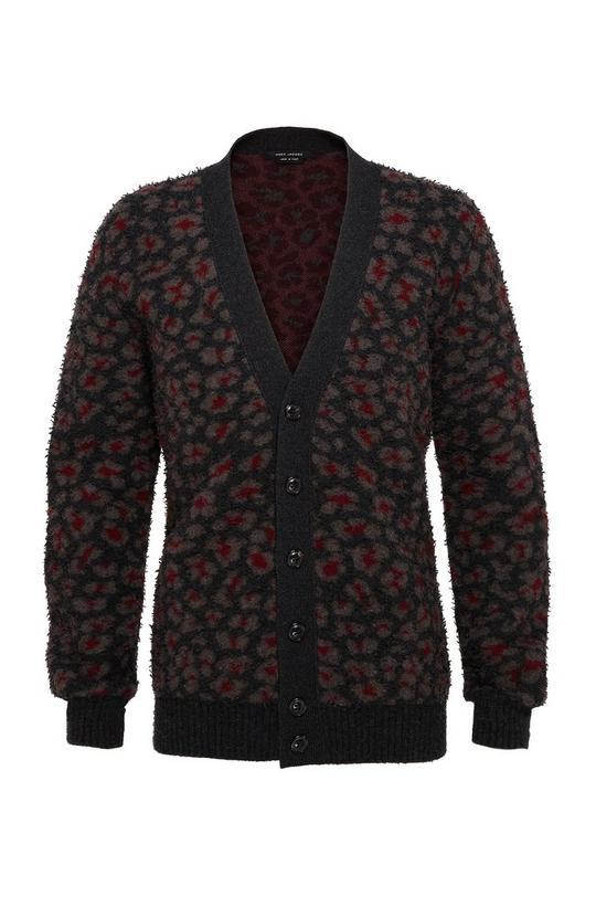 Pilled Geo Leopard Sweater